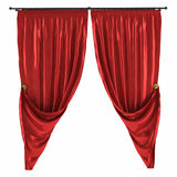 Red curtain isolated Stock Photography