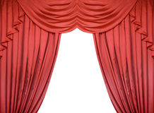 Red curtain isolated on white background Royalty Free Stock Photo