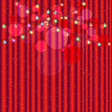 Red curtain and light for stage party Royalty Free Stock Photography