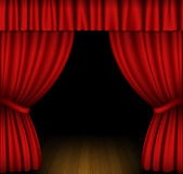 Red curtain Stock Photography