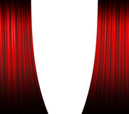 Red Curtain Opening Stock Image