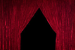 Red Curtain with Opening Stock Photography