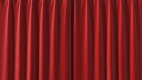 Red Curtain opening in high definition with alpha mask.