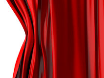Red Curtain Opening Royalty Free Stock Image