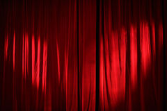 Red curtain. Royalty Free Stock Photography