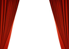 Red curtain (with path) Stock Image