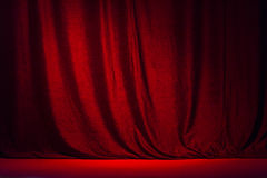 Red curtain and the scene .Ajy Stock Photos