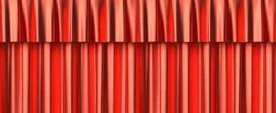 Red curtain seamless background Stock Photos