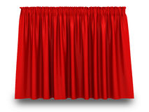 Red Curtain With Shadow On White Background Royalty Free Stock Image