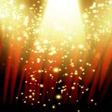 Red curtain with spotlight Royalty Free Stock Images