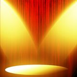 Red curtain with spotlight Stock Photos