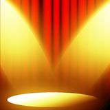 Red curtain with spotlight Stock Photo