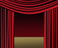 Red Curtain Stage Royalty Free Stock Photography
