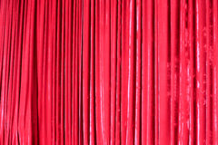 Red curtain. On the stage Royalty Free Stock Photo