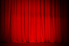 Red curtain stage background stock photography