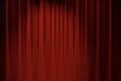 Red curtain stage background for chromakey 3D rendering. Red stage backdrop curtain classic theater background 3D render Royalty Free Stock Photo