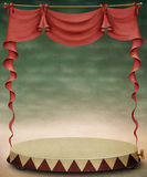 Red curtain and stage. Royalty Free Stock Photos
