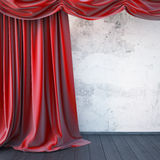Red curtain stage. Stock Photos