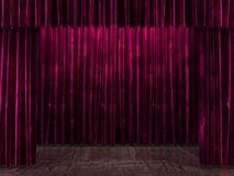 Red curtain stage. 3D rendered Royalty Free Stock Image