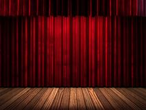 Red curtain stage. 3D rendered Stock Images