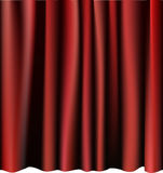 Red curtain for the stage. Editable vector meshes. Stock Image