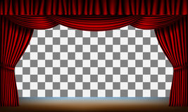Red curtain stage Stock Images
