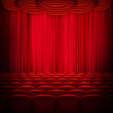 Red curtain template. EPS 10 Stock Images