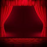 Red curtain template. EPS 10 Royalty Free Stock Photography