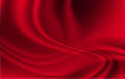 Red Curtain Textile Stock Image