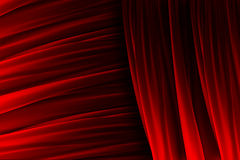 Red curtain texture with lights effects Stock Photo