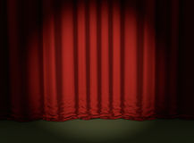 Red curtain theater background special show event 3D illustration Royalty Free Stock Image