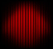 Red curtain on theater or cinema stags Stock Photo