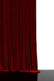 Red curtain in theater. Stock Image