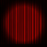 Red curtain in theater. Stock Photos