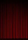 Red curtain in theater. Stock Images