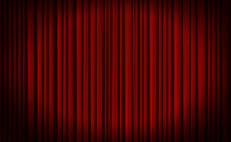 Red curtain in theater. Royalty Free Stock Images