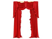 Red curtain of a theater stock illustration