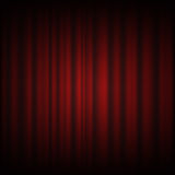 Red curtain from the theatre with a spotlight design  Stock Photo