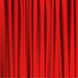 Red curtain theatre vector illustration stock images