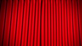 Red curtain stock video