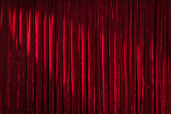 Red Curtain with Upper Left Spot Royalty Free Stock Photography