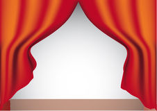 Red curtain. vector. Royalty Free Stock Photo