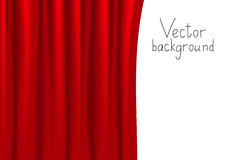 Red curtain. Vector illustration of red curtain Stock Photo