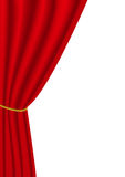 Red curtain. Vector illustration of red curtain Royalty Free Stock Photography