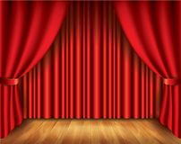 Red curtain vector illustration Stock Image