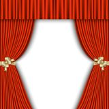 Red curtain with a white background Royalty Free Stock Photos