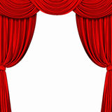 Red curtain on white background Royalty Free Stock Images