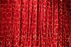Red curtain. With white pattern Royalty Free Stock Images