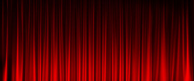 Red Curtain widescreen texture Stock Images