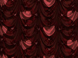 Red Curtain With Heart Pattern Stock Photos